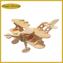Cool 3D Jigsaw mini plane puzzle Wooden model kids funny educational DIY toys Simulation games free shipping(China)