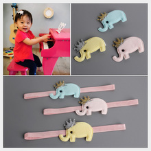 2017 New Celebrity kids Preference Elephant Headband& Hairpin kids Headwear HB058(China)