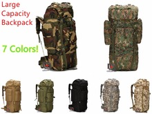 Multicam Unisex Large Capacity Mountaineering Bag High quality Outdoor Backpack Waterproof Travel Hiking Camping Tactical Bags(China)