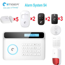 433Mhz big size screen gsm house security alarm system multi-language etiger S4(China)
