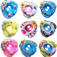 Geniune New Selling Children Baby Swim Ring with Cartoon Seat Parts Kids Seat Ring With Steering Wheel Horn