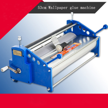 Manual 53cm Wallpaper glue coating machine coater Wallpaper Paste,cementing,gumming,starching,gluing machine(China)
