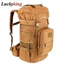 2016 Hot Sale Men 50L Military Army Bag Men Backpack High Quality Waterproof Nylon Backpacks Camouflage Bags Free Shipping D187