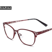 bauhaus France Design Women Metal Hollow Out Optical glasses Vintage Retro eyeglasses Fashion  unique original frames