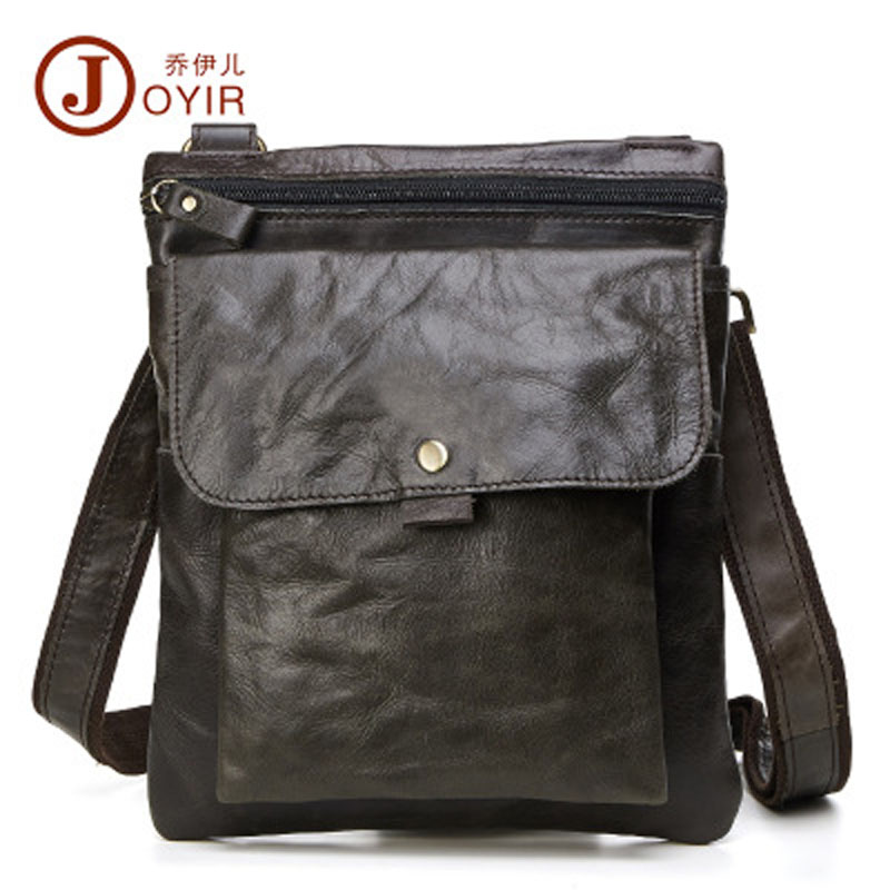 YISHEN Vintage Genuine Leather Men Shoulder Crossbody Bags Korean Style Small Travel Bags For Male Casual Messenger Bags QYR8303<br>