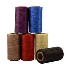 Heavy Duty Waxed Thread Sewing Waxed Coarse Whipping Thread 1mm Leather Hand Stitching 150D pack of 6(China)