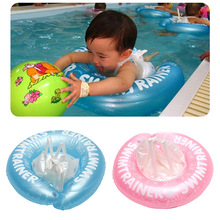 2017 Summer Baby Swim Ring Swimming Neck Fasten Pool Float Swim Trainer Inflatable Infant Kids Float Seat B2Cshop