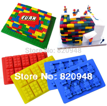 Cake Tool 1 Set = 1 Bruilding Brick & 1 Figure Silicone Mould Robot For Lego Mold Baking Chocolate Birthday Topper Ice Cube