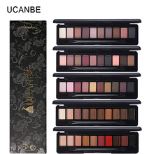 UCANBE Brand Matte Shimmer Shining Eyeshadow Palette Nude Makeup Glitter Pigment Smoky Eye Shadow Mineral Sleek Powder Cosmetics