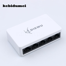 kebidumei Hot Selling 5 Ports Mini Fast Ethernet LAN RJ45 Network Switch Hub Desktop PC US/EU adapter for PC Laptop webcam(China)