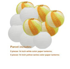 "20 pcs 6""-12"" White Paper Lanterns Chinese Japanese Paper Lanterns for Wedding Party Halloween Hanging Diy Decor Favor 17"
