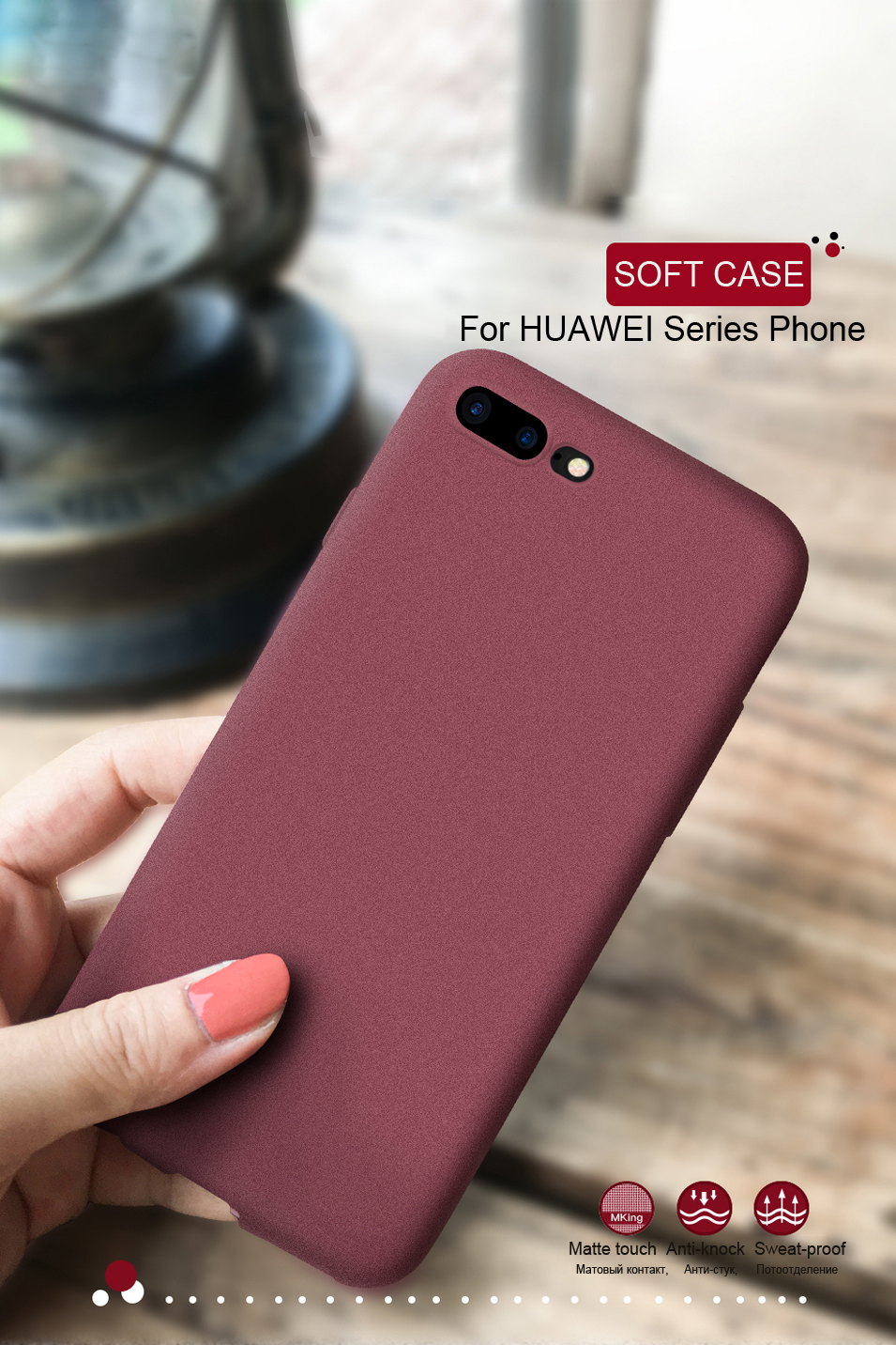 LECAYEE For Huawei Honor A7 Pro Phone Cases for Honor 8 9 10 Lite 7X 6C Pro 5A 6X View 10 Case Cover Matte Touch Soft TPU Bumper (7)