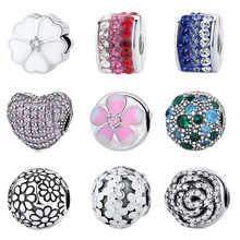 Buy Authentic 925 Sterling Silver Clip Stopper Bead Charm Women Original Charms Fit Pandora Bracelets Bangles DIY Jewelry 27 Styles for $5.85 in AliExpress store