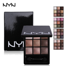 NYN Brand Eye Shadow Palette Sombra Smooth Glitter Eyeshadow Nude Naked Palette Earth Color Long Lasting Smoky Makeup 9 Color