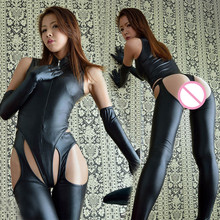 Buy UPHYD Brand New Black Latex Clubwear Jumpsuits PVC Pole Dance Nightwear Sexy Costumes Hot Ladies Leather Catsuit WTB2060S6113
