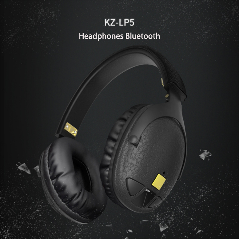 100% Original KZ LP5 Wireless Bluetooth Earphone Apt-X Wired stereo Bass HIFI DJ High-qualit Headset Portable Foldable Headphone<br>