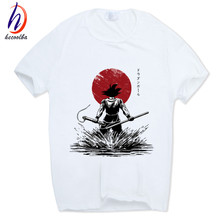 Hecoolba 2017 Dragon Ball Z Goku T-shirt Short sleeve O-Neck Tshirt Summer Saiyan Vegeta Harajuku brand clothing T shirt HCP316(China)