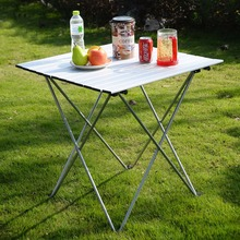 Aluminum Roll Up Table Folding Camping Outdoor Indoor Picnic W/ Bag Heavy Duty OP2789(China)