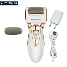 KY-818 Europe/USA Charger Electric Exfoliator Callus Remover file for feet VS Sawing Scholls Pedicure 1 Roller Heads KIMISKY(China)