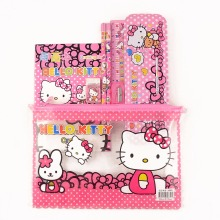 1 set children hello kitty school Pencil Case for girls cartoon pencil box high quality school supplies stationery set kids gift(China)