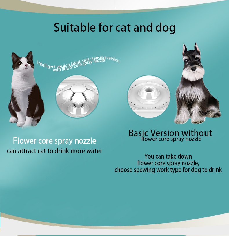 Intelligent Radar Sensing Cat Water Fountain With 6 pcs Activated Carbon Filters 2L Automatic Dog Water Dispenser Fast Shipping (4)