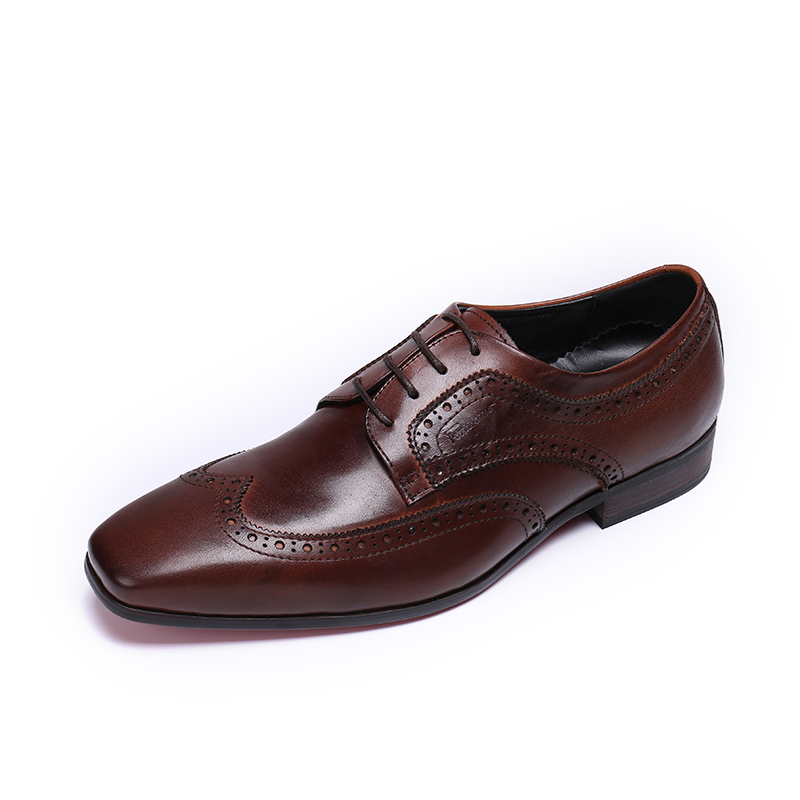 Germuss Wine Red Brogue men leather Shoes Luxury Brand Red Bottom Wedding Party Shoes Pointed Toe Lace Up Plus Size 38-46
