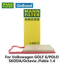 MANNFILTER  car air filter   C4287/3  for Volkswagen GOLF 6/POLO/SKODA/Octavia 1.6L/Fabia 1.4 auto parts