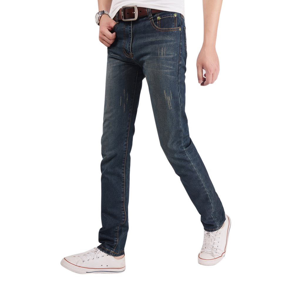 jeans New fashion cotton men jeans good quality slim washed denim jeans men casual never outdate straight jeans size 29-36 DM#6Одежда и ак�е��уары<br><br><br>Aliexpress