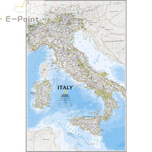 Map of Italy Oil Painting Print on Cotton Canvas Painting Abstract Wall Art ZZ-059