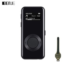 BENJIE MP3 Player 7.1mm Thin Music Player Stereo 3D Sound FM Recording E-Book Full Metal 8GB Sport MP3 with Earphone Armband(China)