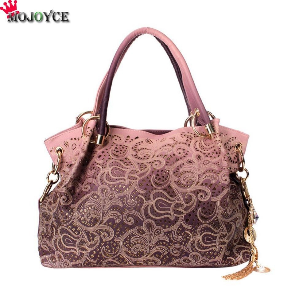 Elegant Women Handbag Hollow Out Design Large Bags Tote Ladies High Quality Leather Shoulder Bag Eurpean Style Bolsa New<br>