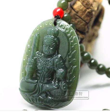 Authentic medallion hetian jade jade Ming wang yu pendant Rooster this life fo Chinese zodiac patron saint