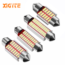 Hoge Kwaliteit 31mm 36mm 39mm 42mm C5W C10W Super Heldere 4014 SMD Auto LED Festoen Licht canbus Foutloos Interior Doom Lamp(China)