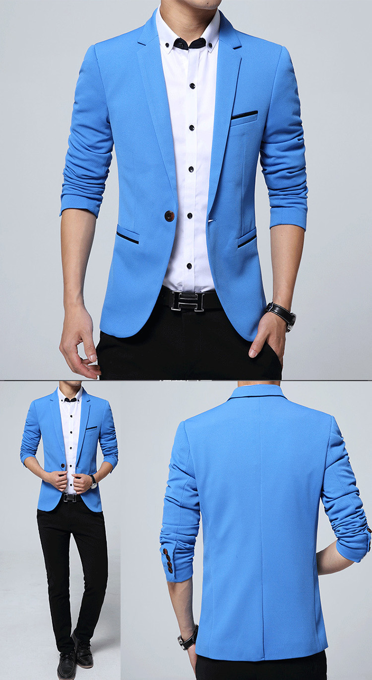17 Autumn Fashion slim fit Mens blazer Burst models high quality Suit Jacket for Men free delivery Male blazers size 4XL 5XL 5