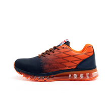 2017 Men Shoes Sport Leather Air Running Sneakers Men Black/Orange/Red Original Athletic Sneakers Spring/Autumn Jogging Shoes