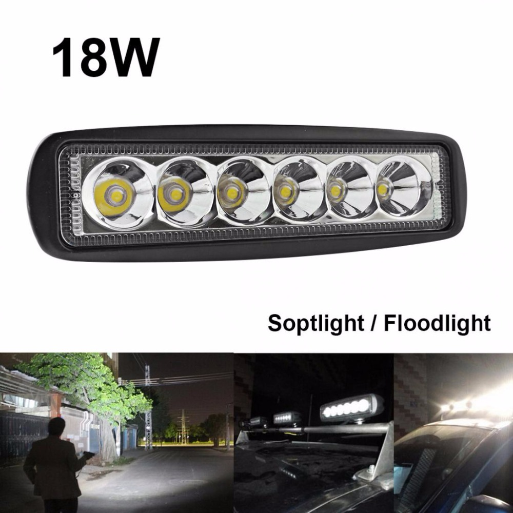 Brand New 1550LM Mini 6 Inch 18W 6 x 3W LED Light Bar as Worlooklight / Fd Light / Spot Light for Boating / Hunting / Fishing<br><br>Aliexpress