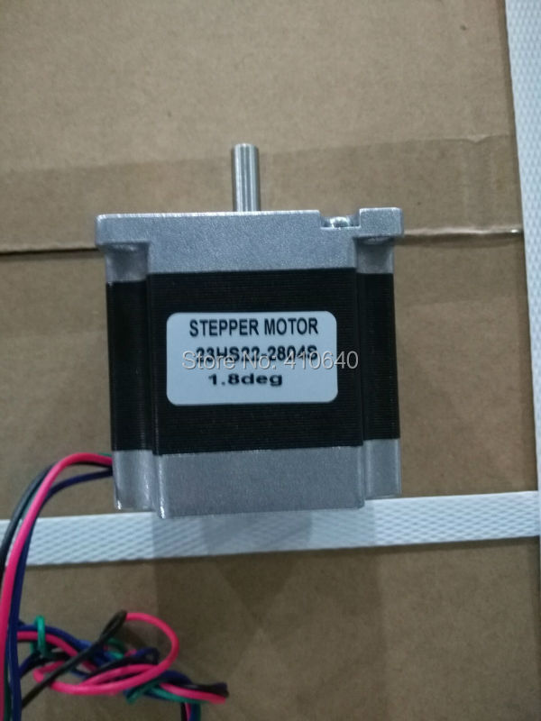 High torque step motor 23HS22-2804S  L 56 mm Nema 23 with 1.8 deg  2.8 A  126 N.cm and  bipolar 4 lead wires<br>