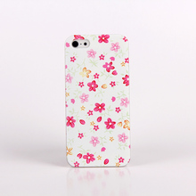 Blooming Flower Painting Protective Case For IPhone 4 4s Square Case Free Shipping Rose Cover For Iphone 4 4s
