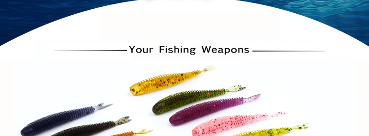 Soft Fishing Lures Split Tail Sandworms 5.8cm 1g 10pcs Swimbait Soft Bait Shad Carp Fly Fishing Tackle (2)