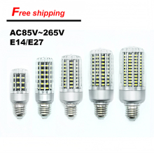 On Sale LED Bulb SMD5736 More Bright 5730 LED Corn Lamp Bulb Light 5W 10W 15W 20W 25W E27 E14 85V-265V No Flicker Free shipping