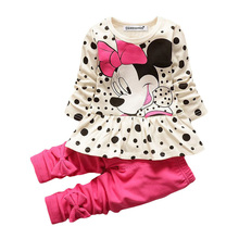 KEAIYOUHUO Children Clothing Sets Costumes For Kids Sport Suits Girls Clothes Sets Cartoon Baby Girls Clothes Christmas Outfits(China)