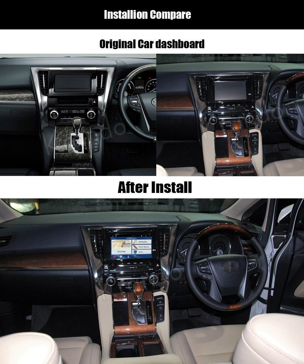 Krando toyota alphard Android car radio gps navigation multimedia system