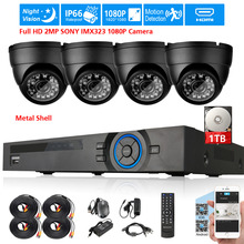 Full HD 2MP SONY IMX323 1080P in/outdoor Camera Security Surveillance CCTV System 4CH Real 1080P DVR recorder USB 3G WIFI DVR