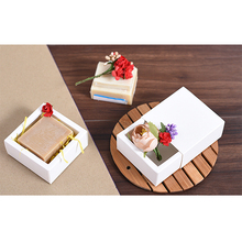 Small White Drawer Gift Packaging Paper Box Jewelry Event Wedding Candy Chocolate Bakery Baking Cake DIY Soap Packaging Box(China)