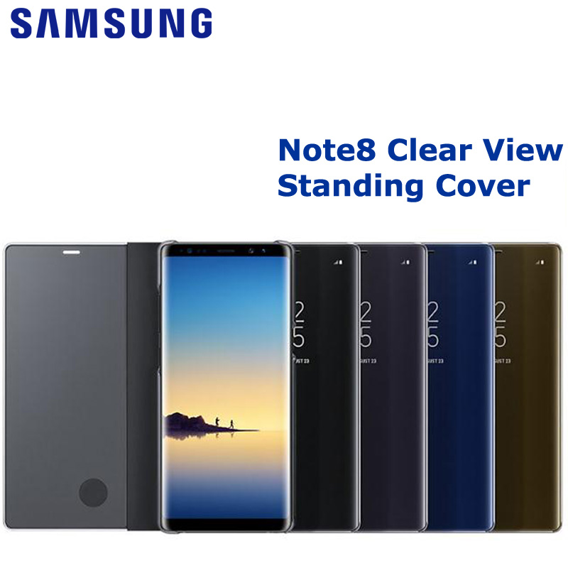 SAMSUNG  Clear View Standing Cover for Samsung Galaxy Note8 N9500 N950F Note 8 Shell Phone Cover Phone Case