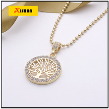 2016 Brand Hip Hop Necklace Men Stainless Steel Long Chain Tree of Life Pendant Necklaces Male Jewelry Gift Colares
