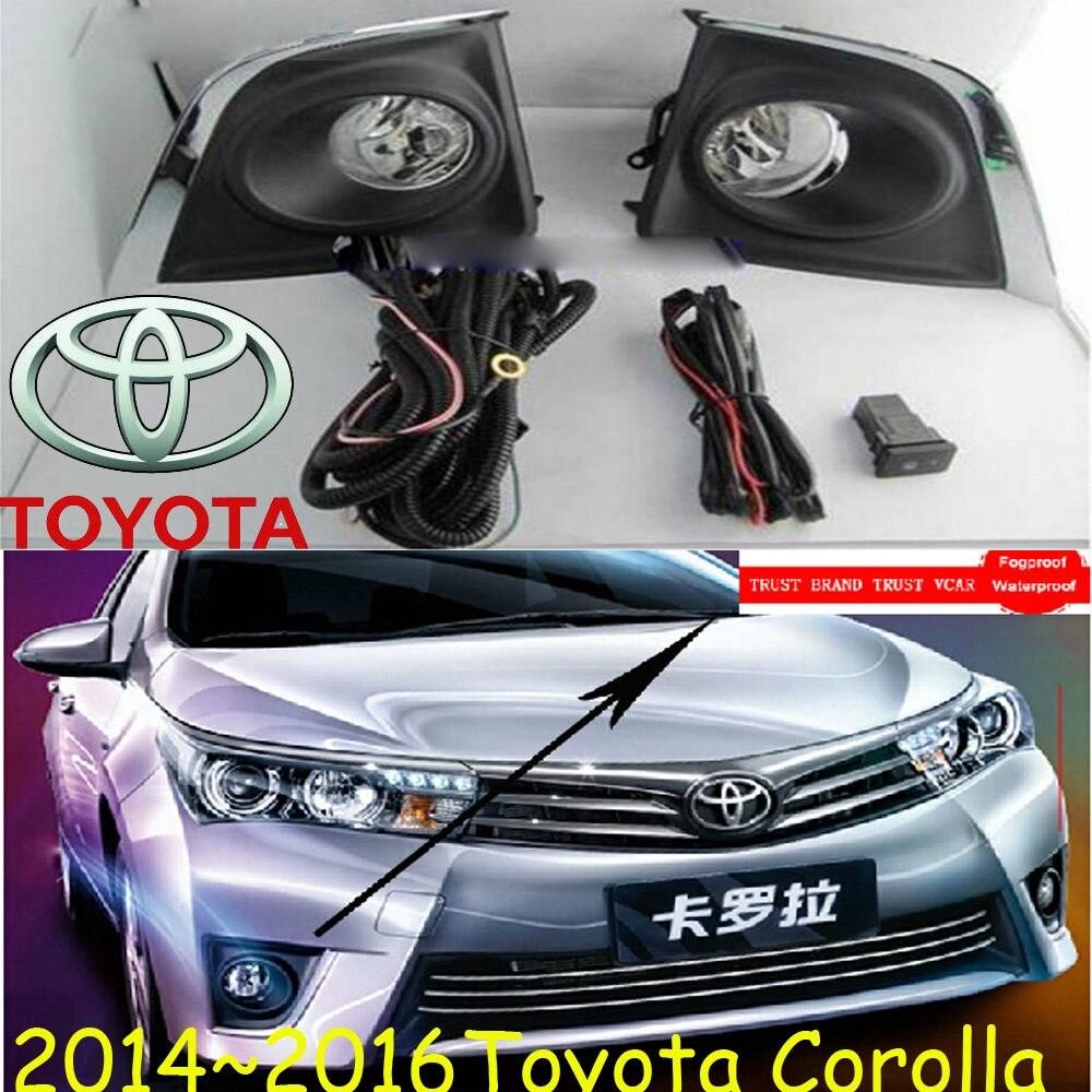Corolla fog light,2007~2015,2pcs/set+wire of harness,Corolla halogen light,Free ship! Corolla headlight; Corolla <br><br>Aliexpress