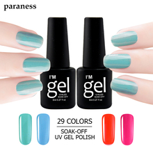 Paraness lucky 29 Colors Gel Nail Polish Long-lasting UV LED 8ml Top and Base Coat Gel Polish Enamel Permanent Nail Art