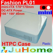HTPC Mini-ITX case, 198*198*60mm, Ultra-thin, Plastic, DC-ATX power, home theatre computer, on Car computer case, Fashion PL01(China)