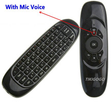 New C120 Fly air Mouse with Mic Voice 2.4G mini Wireless Keyboard remote controller for Android Smart TV Box PC etc.(China)